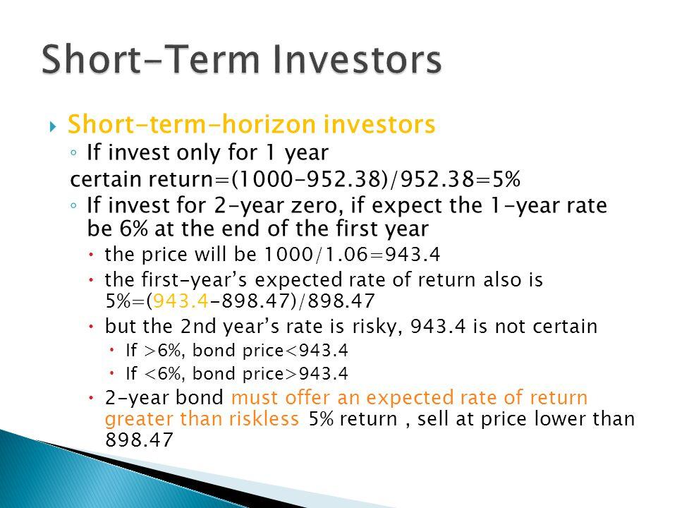 Short-Term Investors Short-term-horizon investors