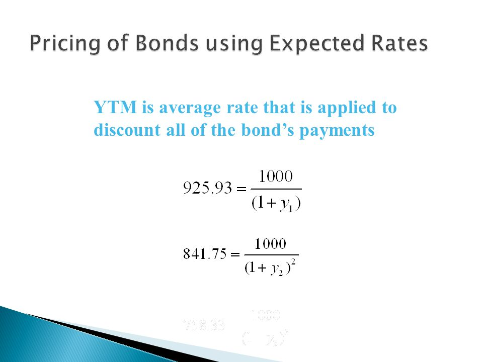 Pricing of Bonds using Expected Rates