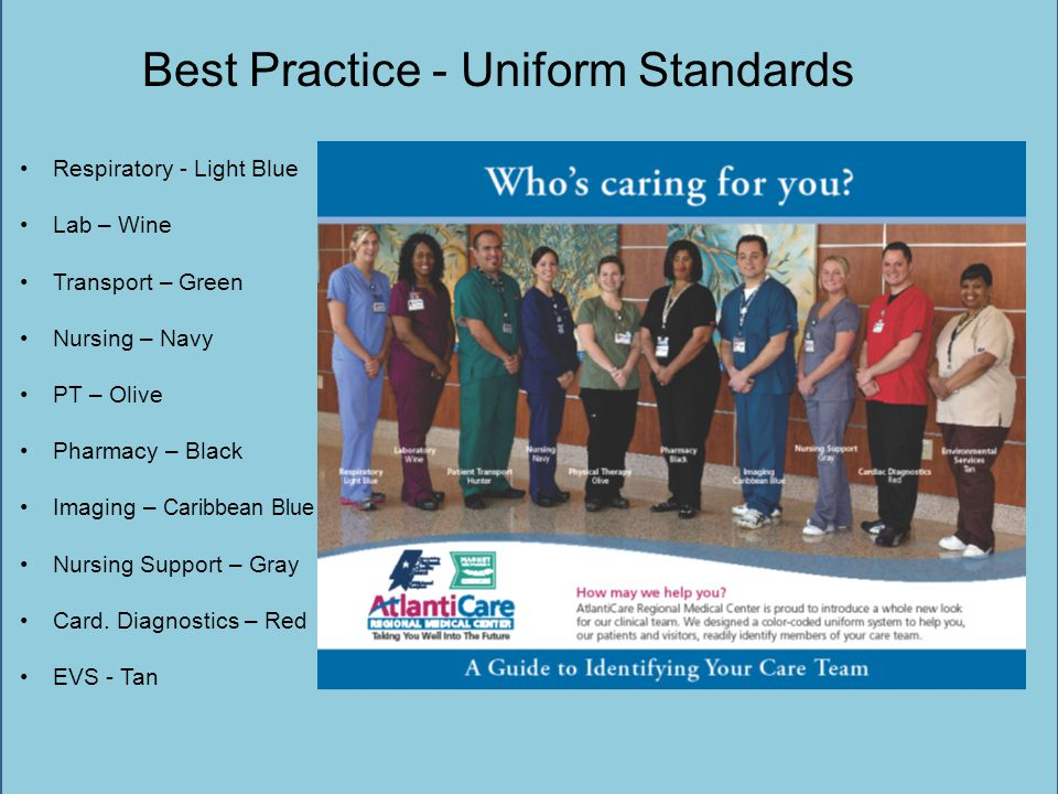 Best Practice - Uniform Standards