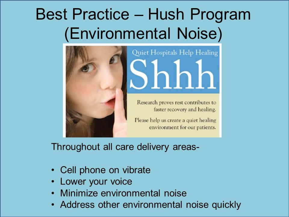 Best Practice – Hush Program (Environmental Noise)