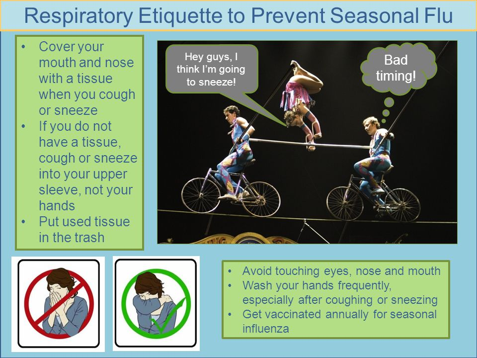 Respiratory Etiquette to Prevent Seasonal Flu