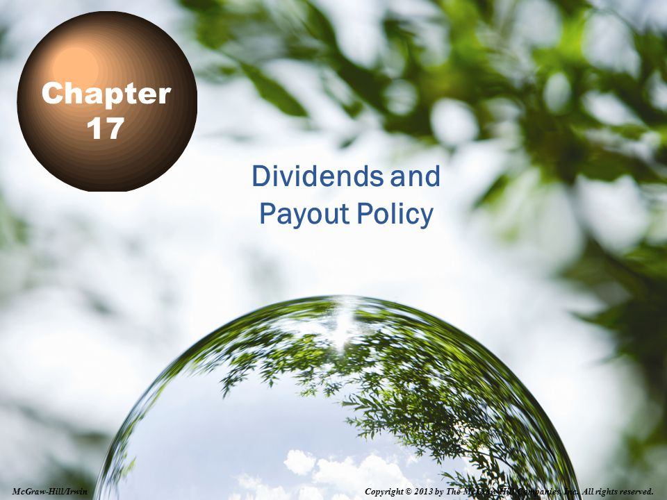 Dividends and Payout Policy