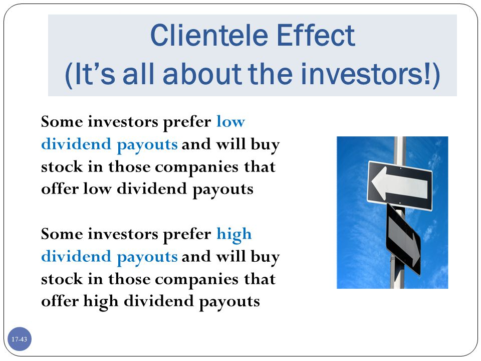 Clientele Effect (It's all about the investors!)