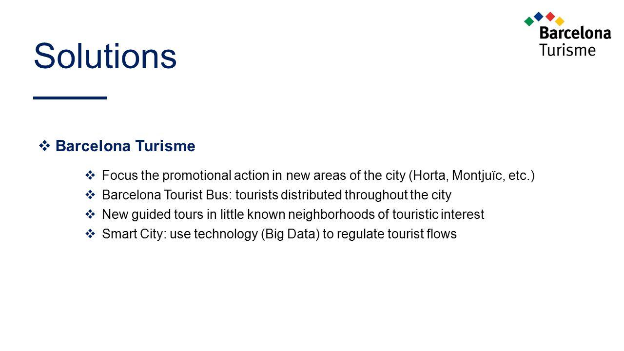 Solutions Barcelona Turisme