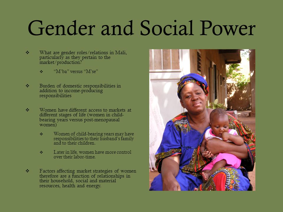 Gender and Social Power