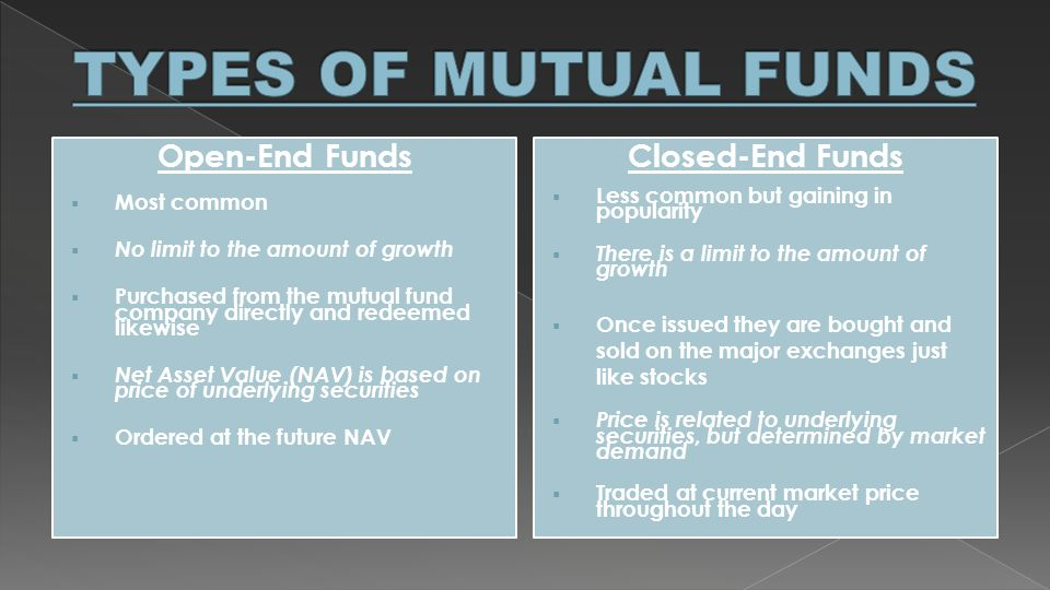 open ended and closed ended funds Discover our different approach about john hancock investments in back to closed-end funds overview closed-end funds q & a a closed-end fund and an open-end.