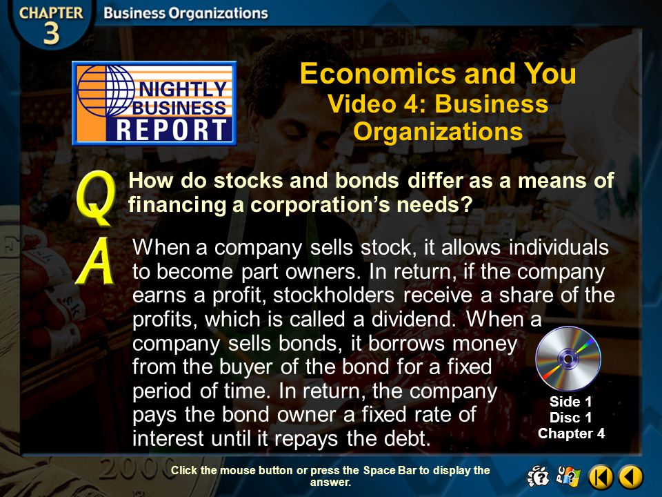 Economics and You Video 4: Business Organizations