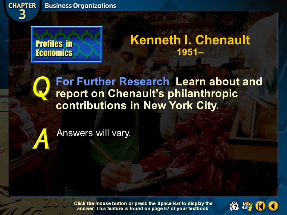 Kenneth I. Chenault 1951– For Further Research Learn about and report on Chenault's philanthropic contributions in New York City.