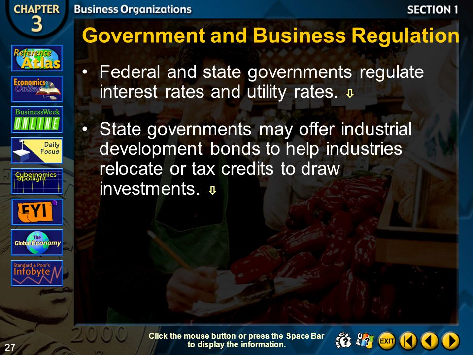 Government and Business Regulation