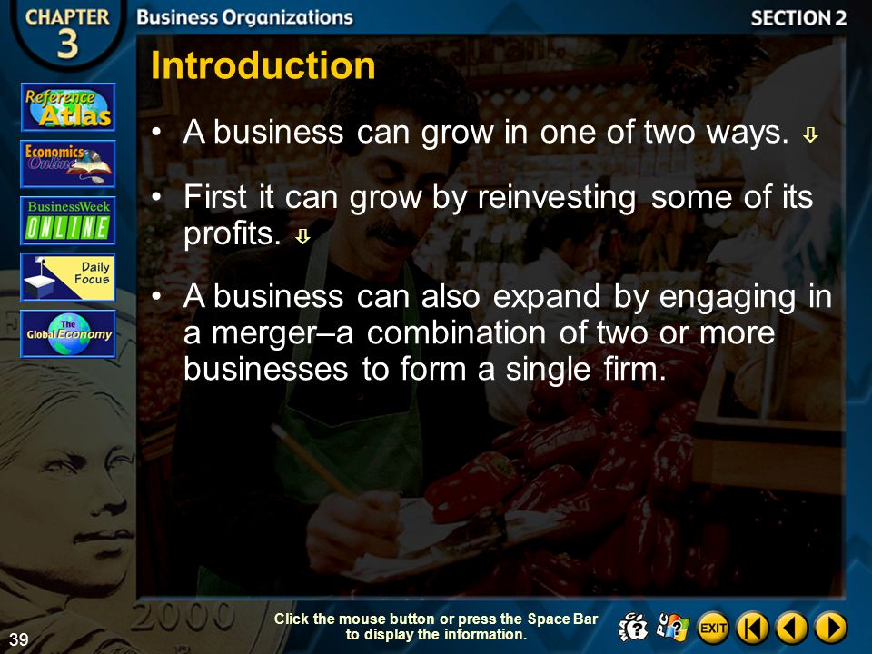 Introduction A business can grow in one of two ways. 