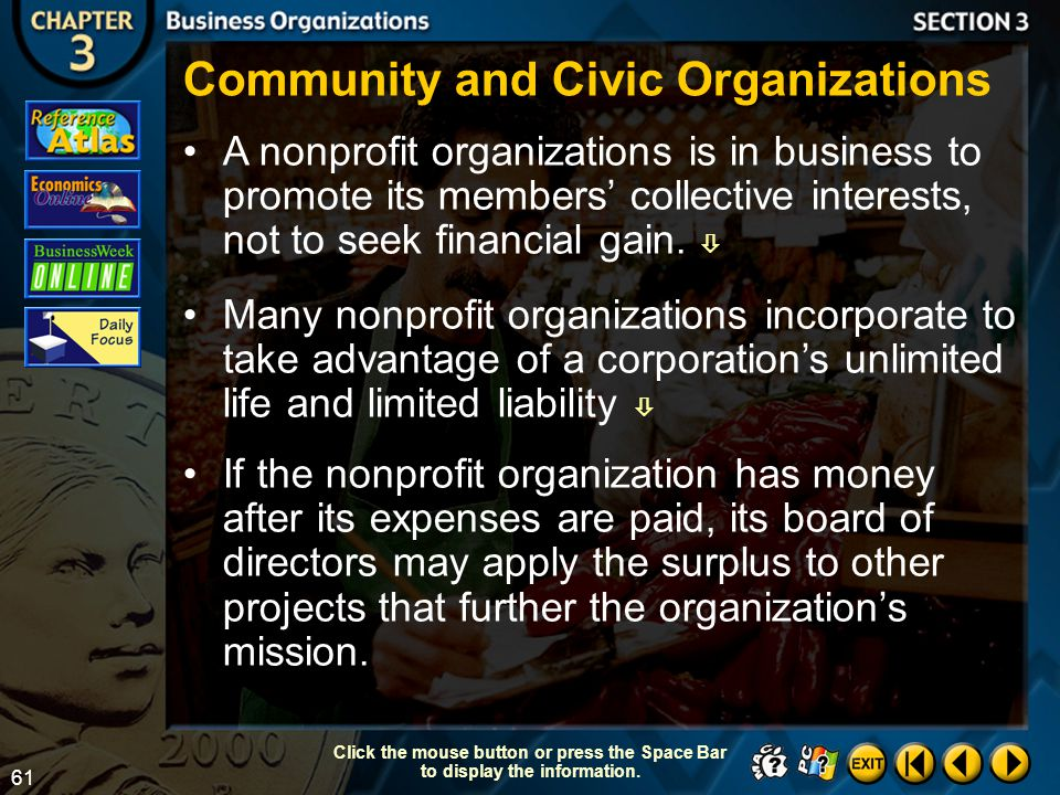 Community and Civic Organizations