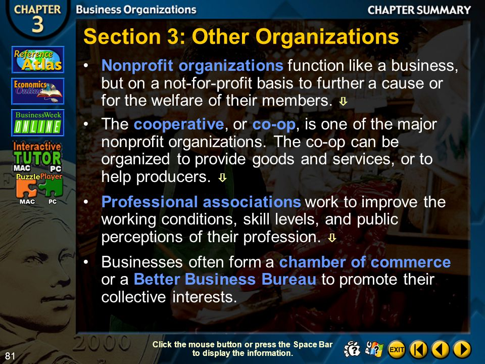 Section 3: Other Organizations