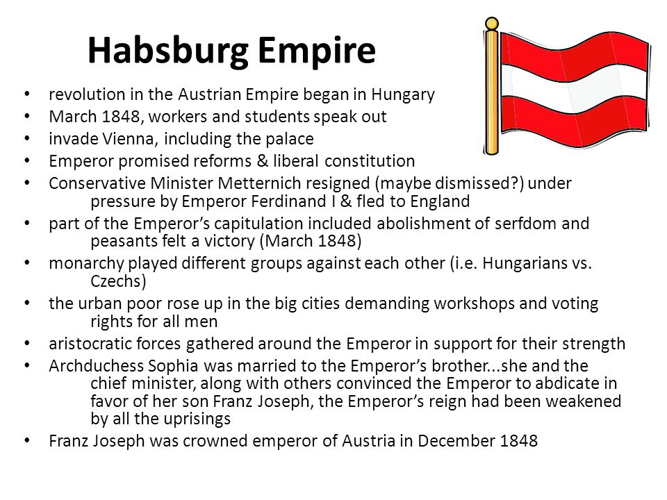 Habsburg Empire revolution in the Austrian Empire began in Hungary