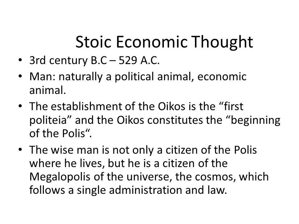 Stoic Economic Thought