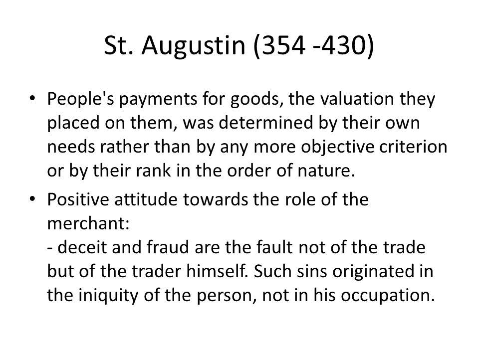 St. Augustin (354 -430)