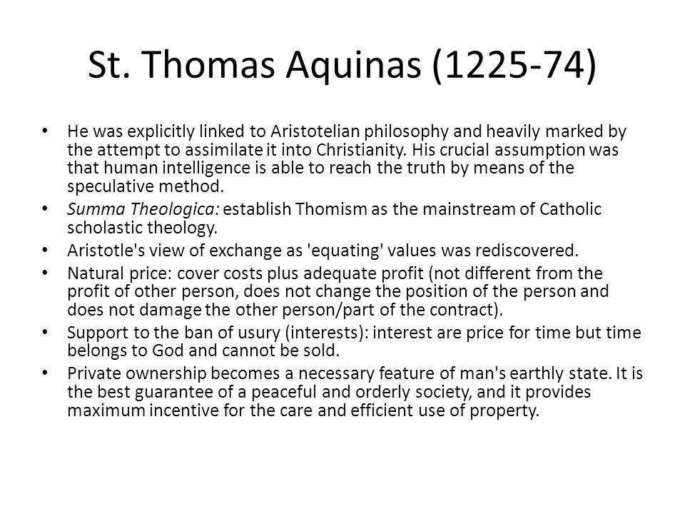 St. Thomas Aquinas (1225-74)