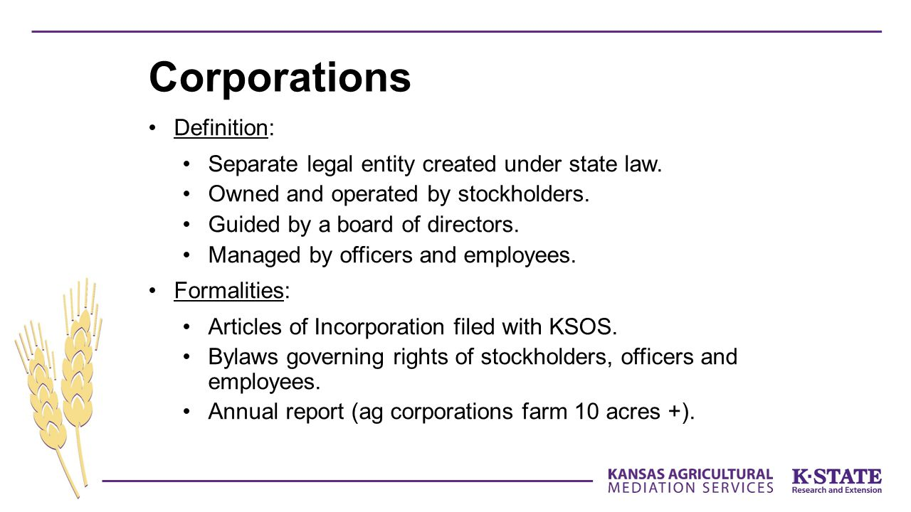 Corporations Definition: