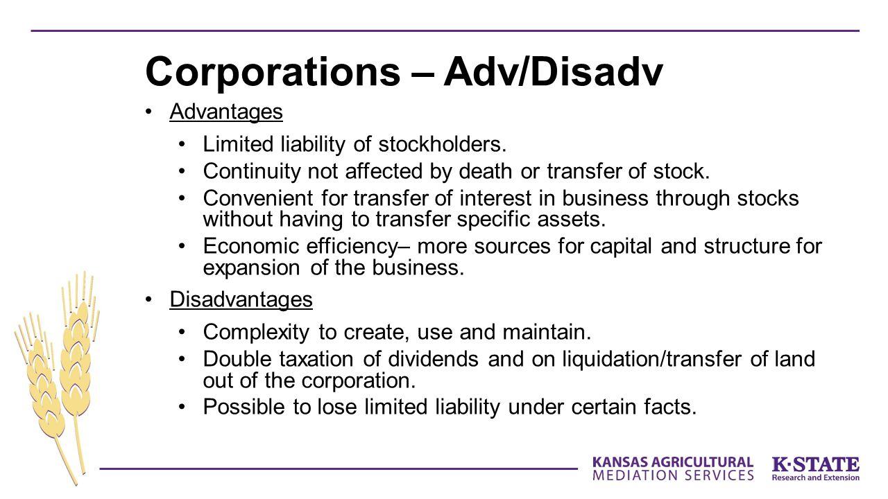Corporations – Adv/Disadv