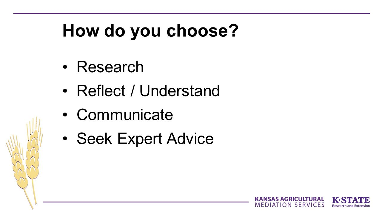 How do you choose Research Reflect / Understand Communicate