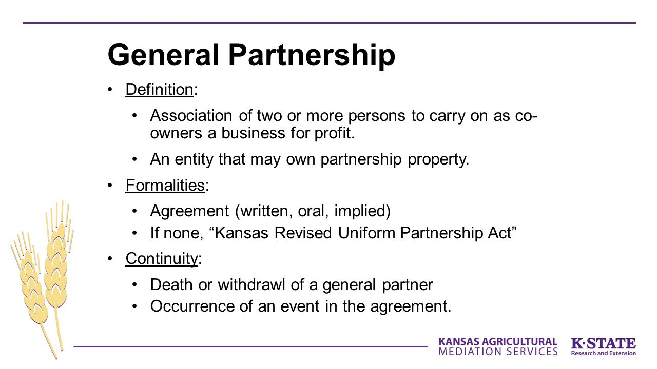 General Partnership Definition: