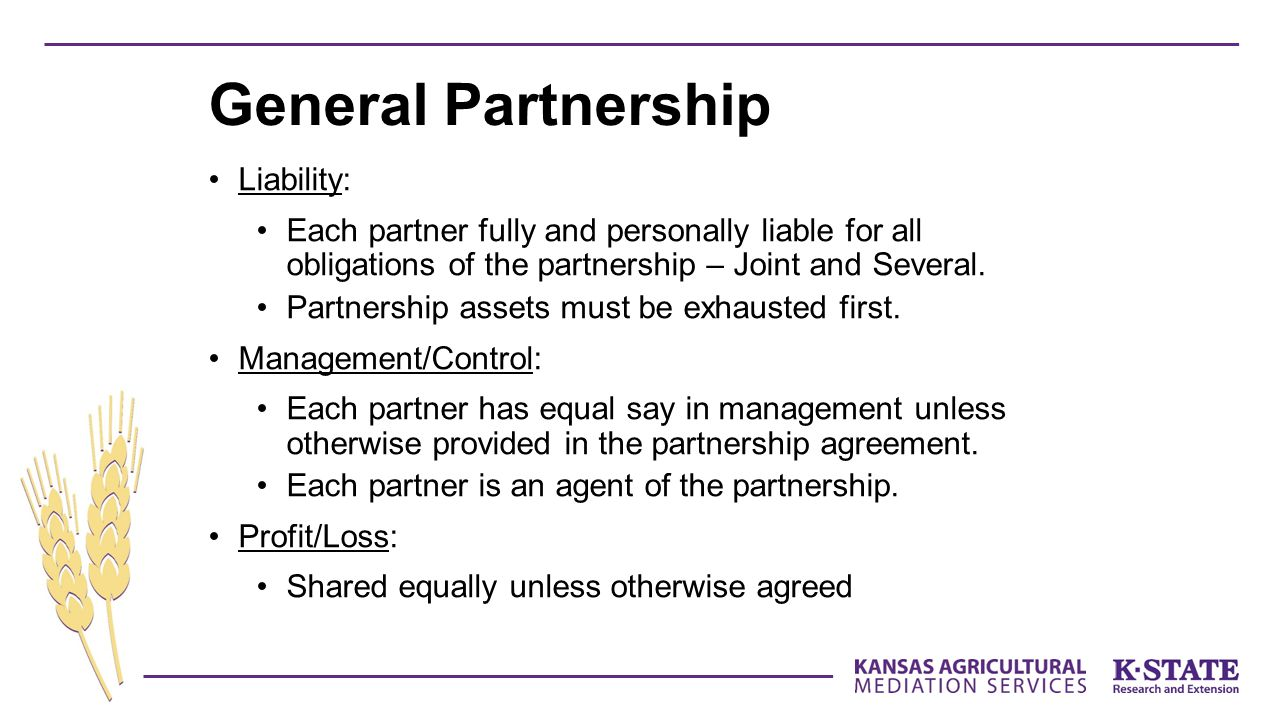 General Partnership Liability: