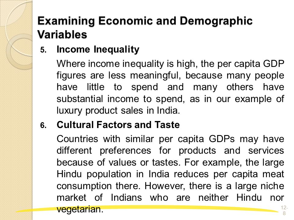 understanding the important variables in demography