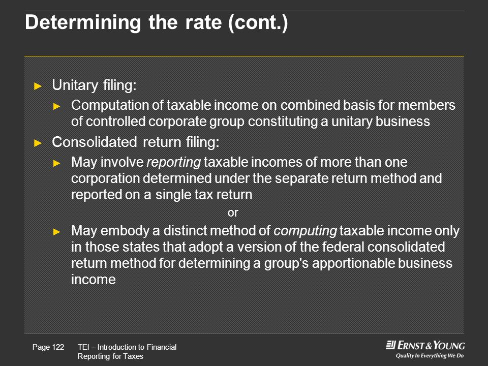 Determining the rate (cont.)