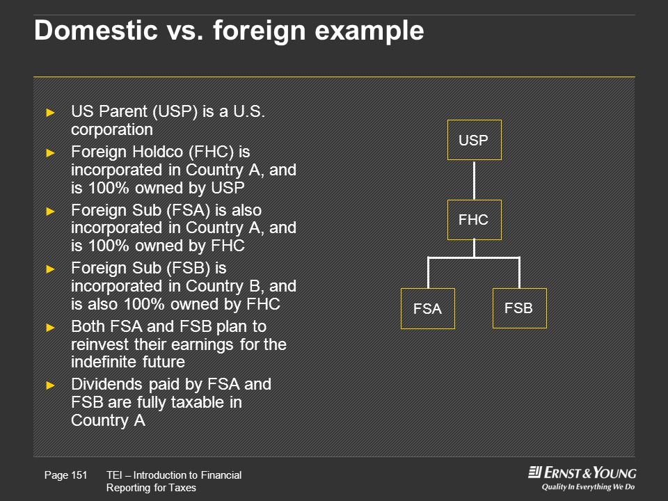 Domestic vs. foreign example