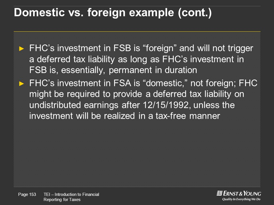 Domestic vs. foreign example (cont.)