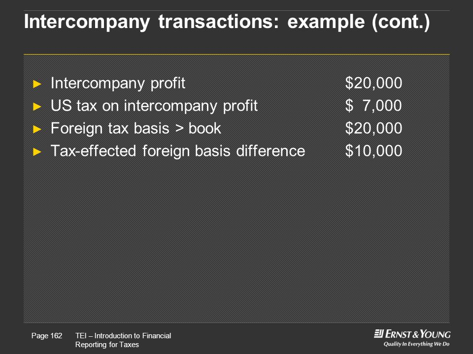 Intercompany transactions: example (cont.)