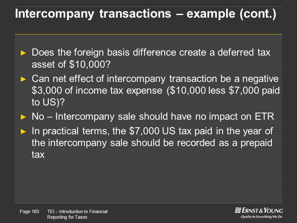 Intercompany transactions – example (cont.)