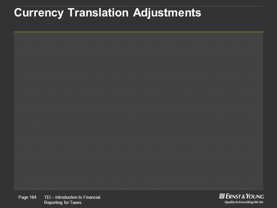 Currency Translation Adjustments
