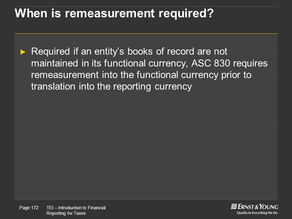When is remeasurement required