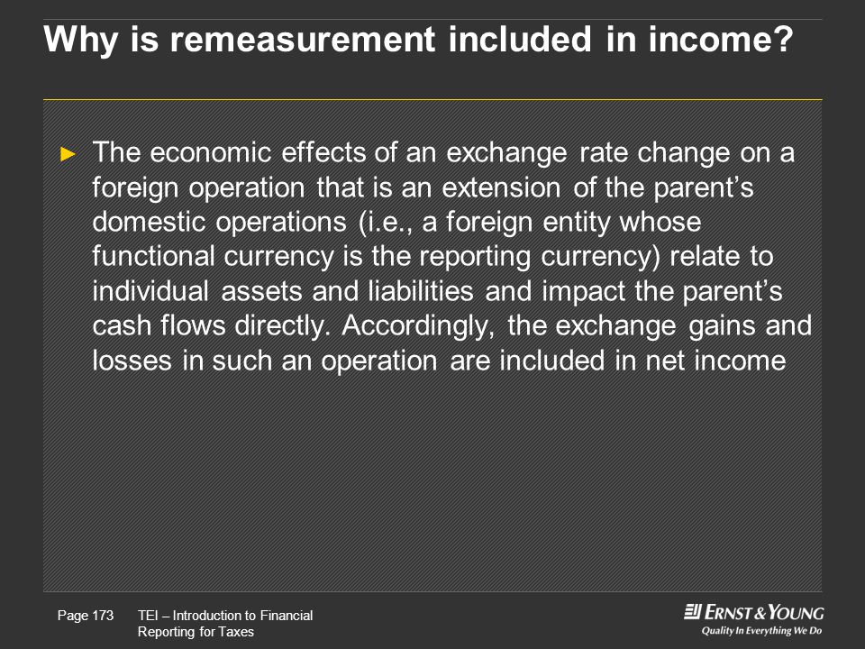 Why is remeasurement included in income