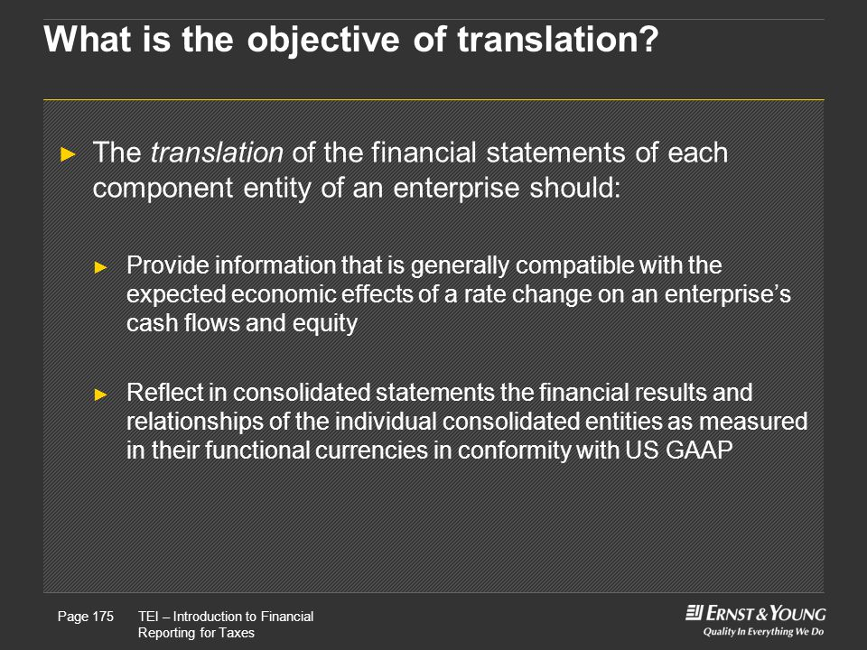 What is the objective of translation
