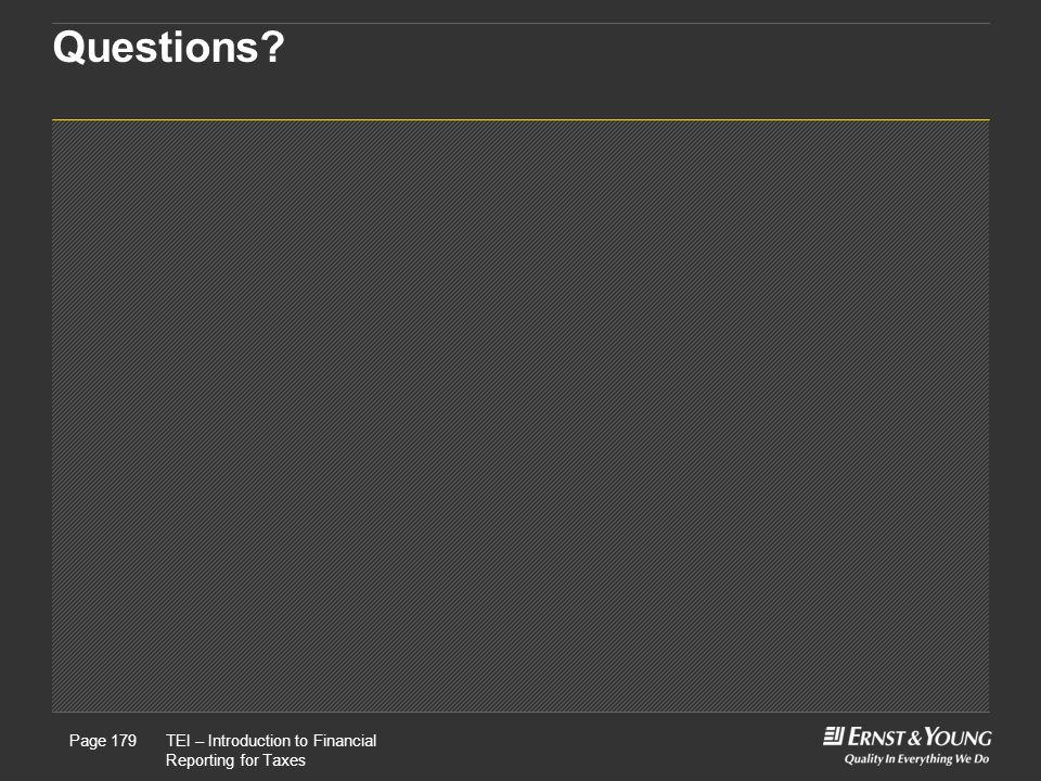 Questions This is a predetermined divider slide and should not be modified