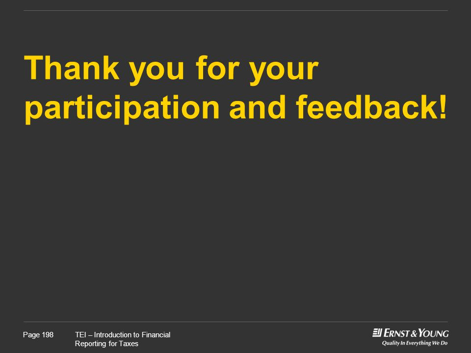 Thank you for your participation and feedback!