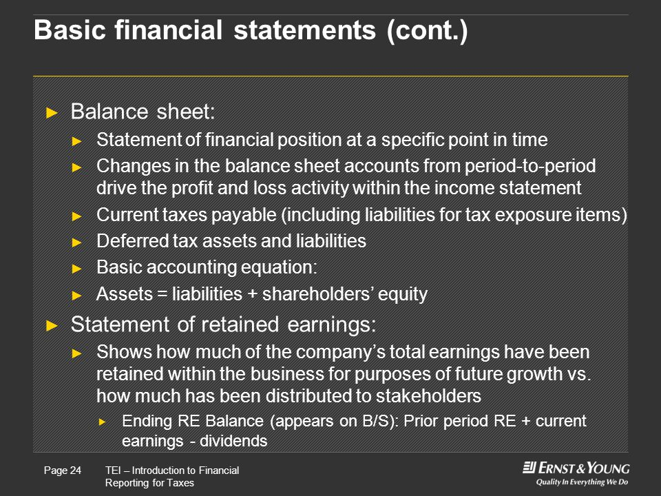 Basic financial statements (cont.)