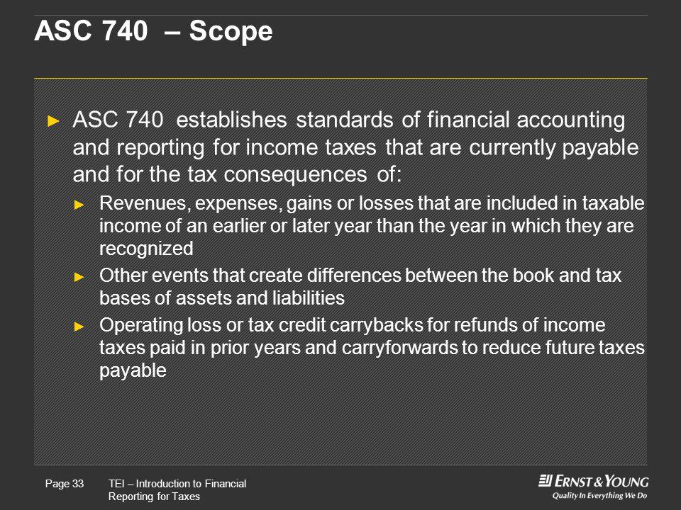 ASC 740 – Scope