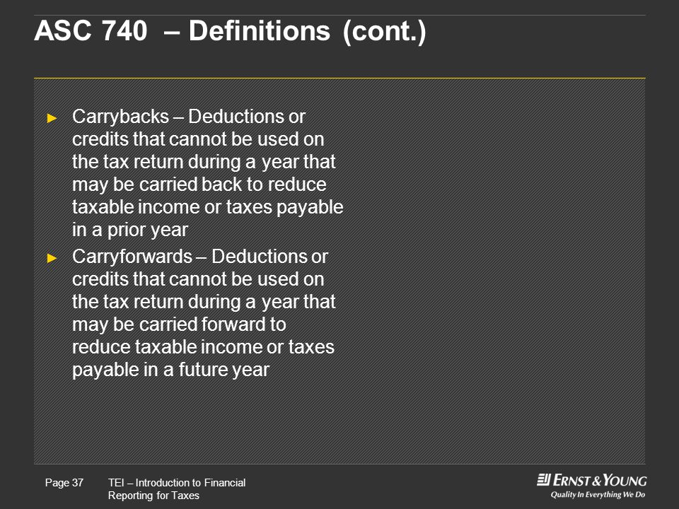 ASC 740 – Definitions (cont.)