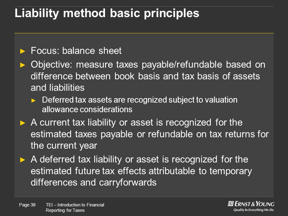 Liability method basic principles