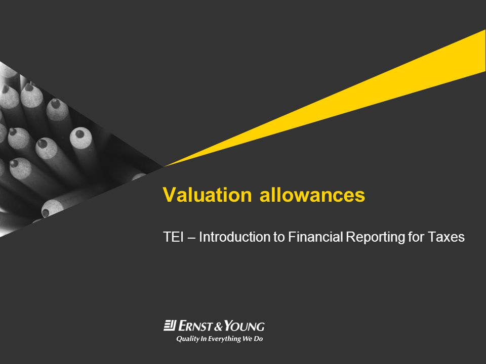 TEI – Introduction to Financial Reporting for Taxes