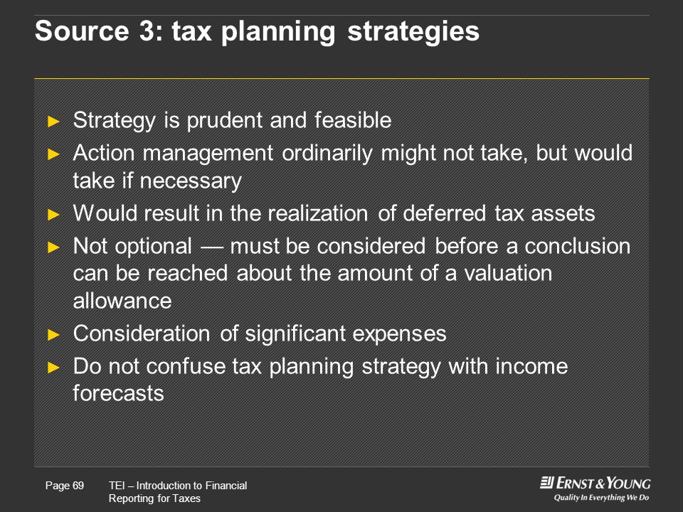 Source 3: tax planning strategies