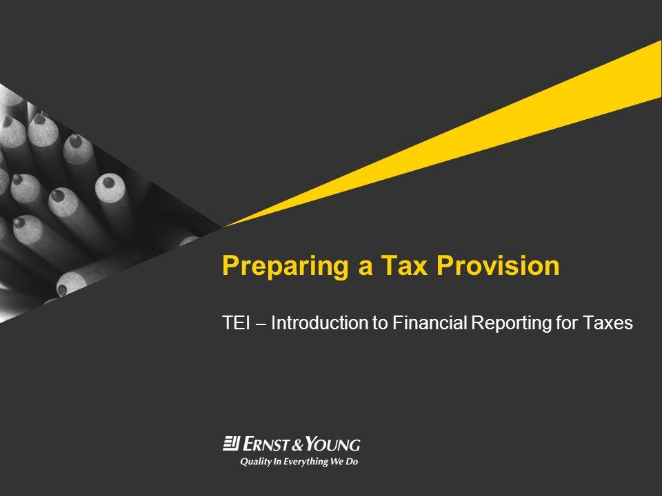 Preparing a Tax Provision