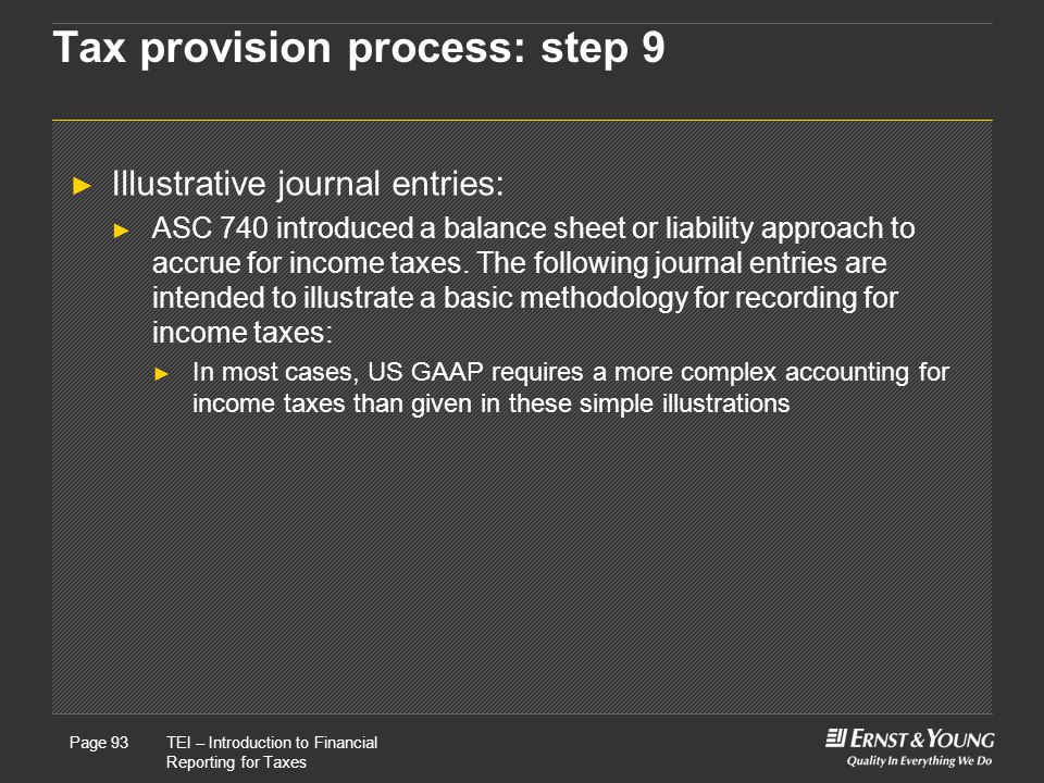 Tax provision process: step 9