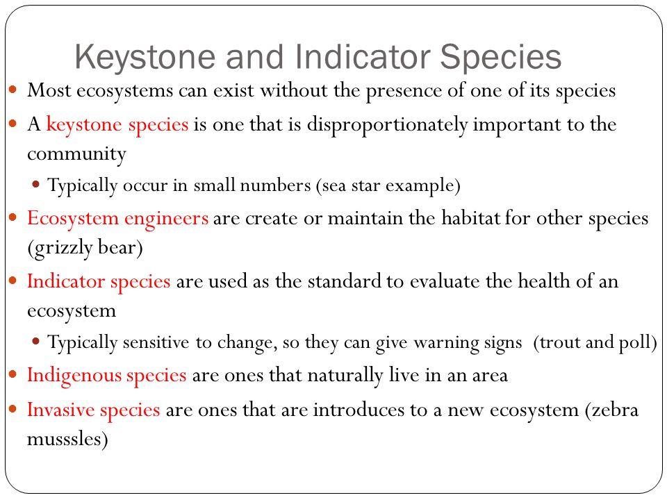 Keystone and Indicator Species