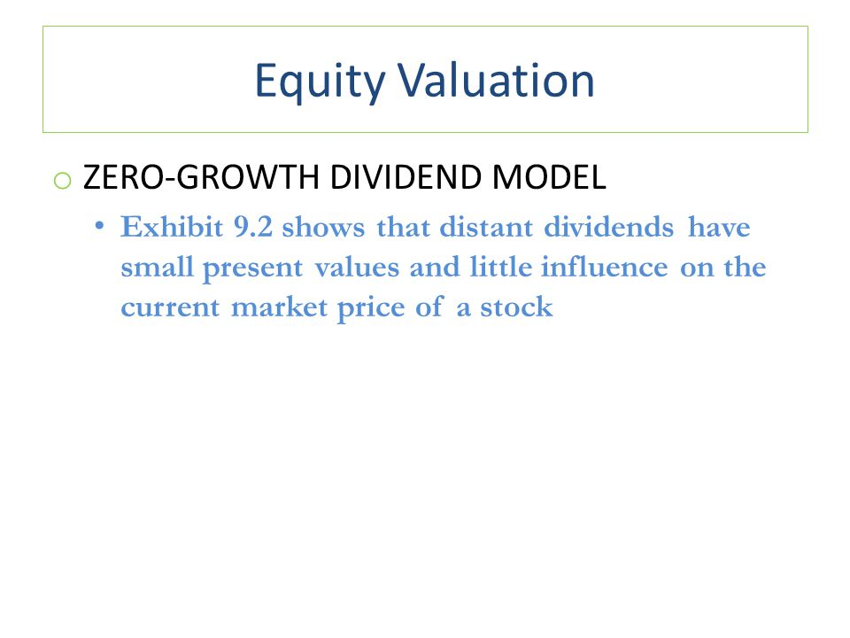 Equity Valuation Zero-Growth Dividend Model