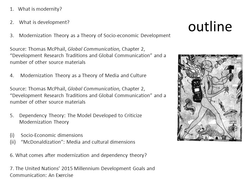 outline 1. What is modernity 2. What is development