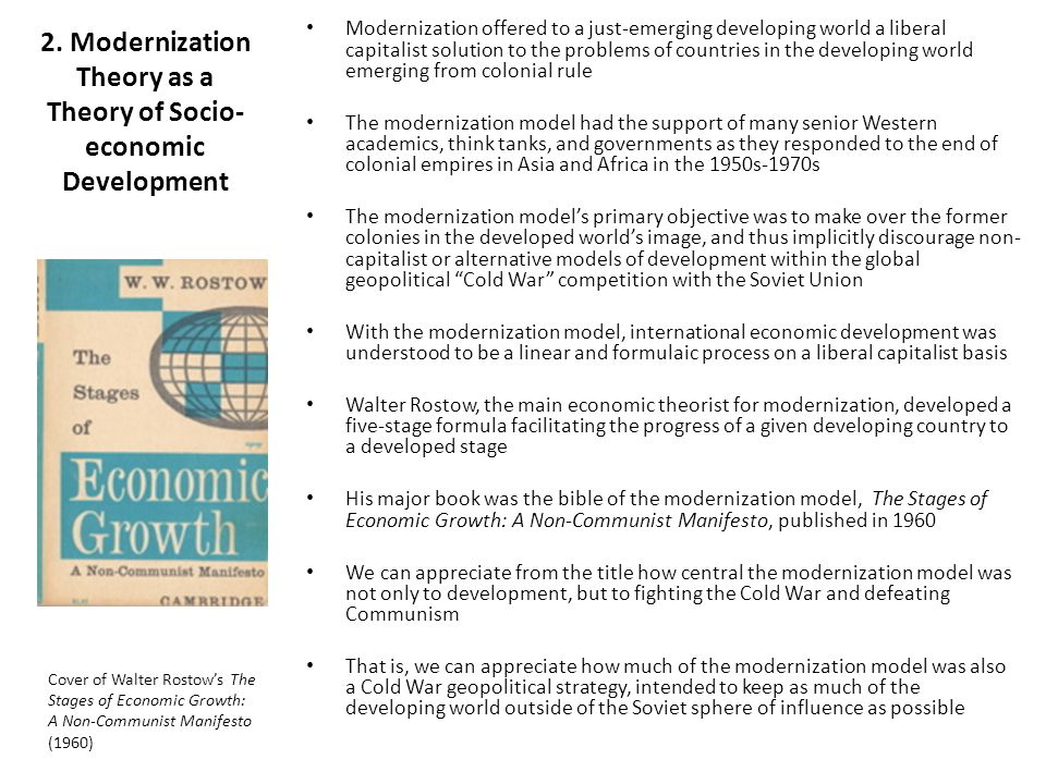 2. Modernization Theory as a Theory of Socio-economic Development