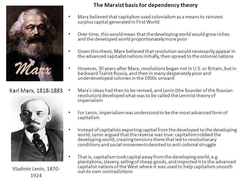 The Marxist basis for dependency theory